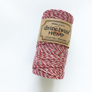 Whisker Graphics Divine Twine Hemp (Red & Natural)