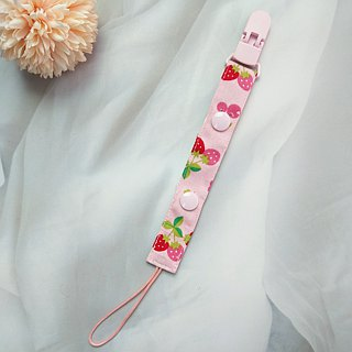 Strawberry sweetheart. 2-piece manual pacifier chain (vanilla pacifier nipple applies)