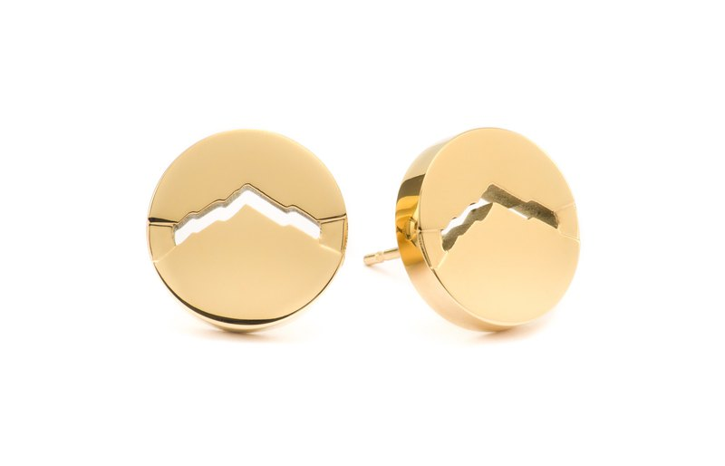 CLASSIC M Earrings Round Gold
