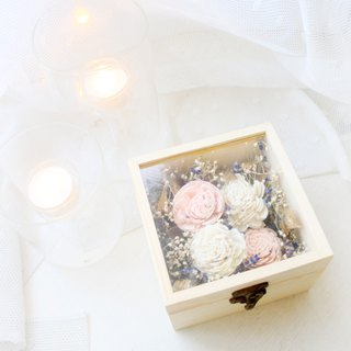 Fragrance wooden box   (with lavender and Preserved Flowers )