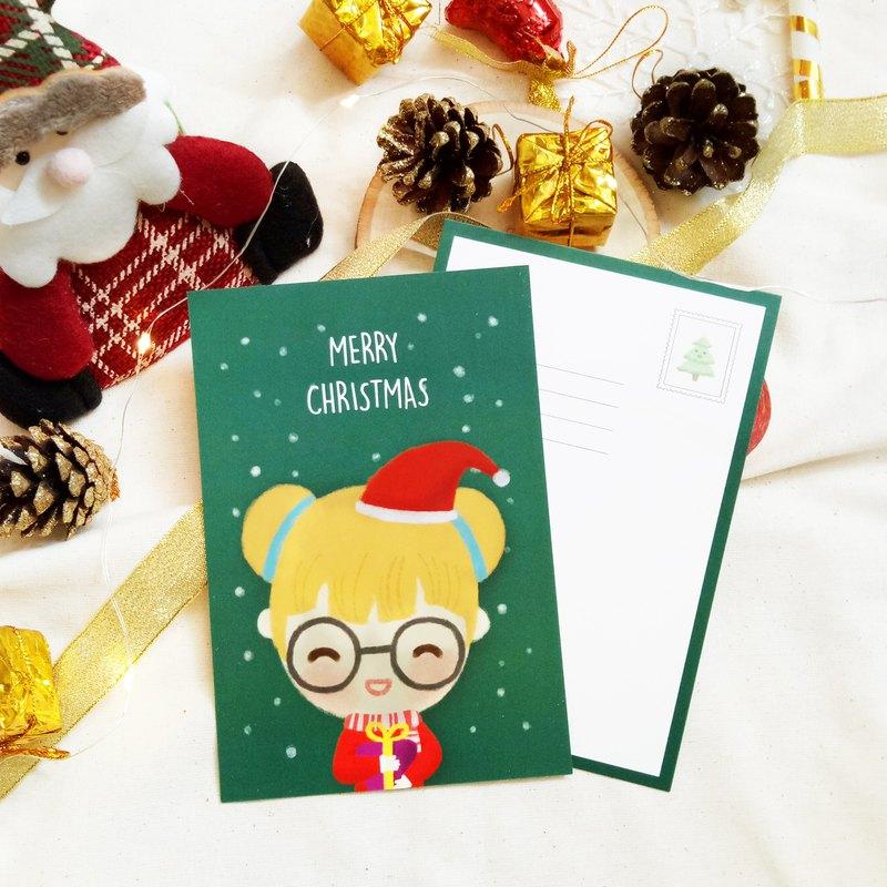 【聖誕節系列】歡樂的聖誕明信片卡片-5張一套