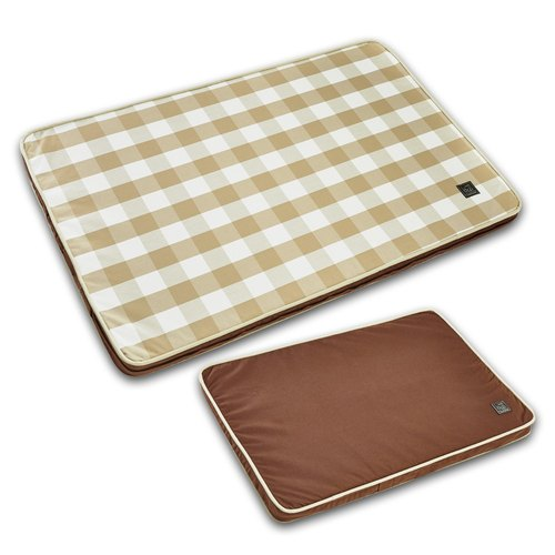 Lifeapp Pet Relief Sleeping Pad Large Plaid - L (Brown White) W110 x D70 x H5cm