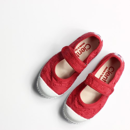 Spanish nationals canvas shoes CIENTA children's shoes size cloth red fragrant shoes 76998 49