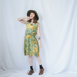 VINTAGE SUMMER FLORAL SLEEVELESS DRESS