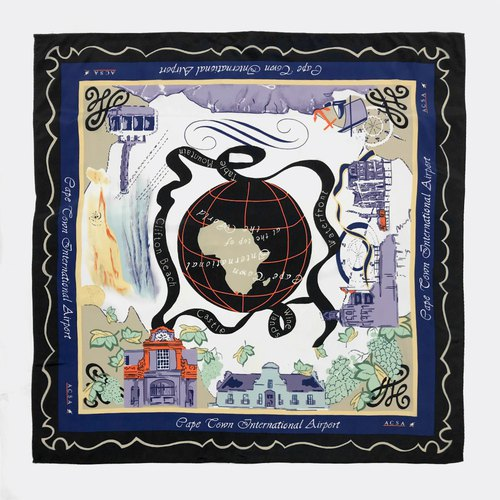 Cape Town International Airport Antique Scarf BI0015