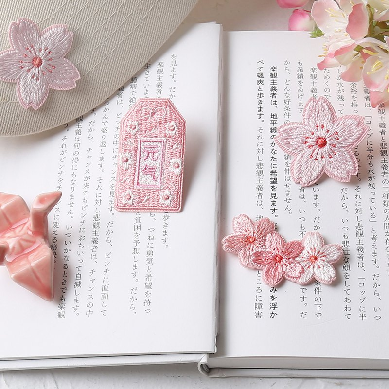 Infeel.Me warm air cherry blossom series hand embroidery embroidery / embroidery brooch