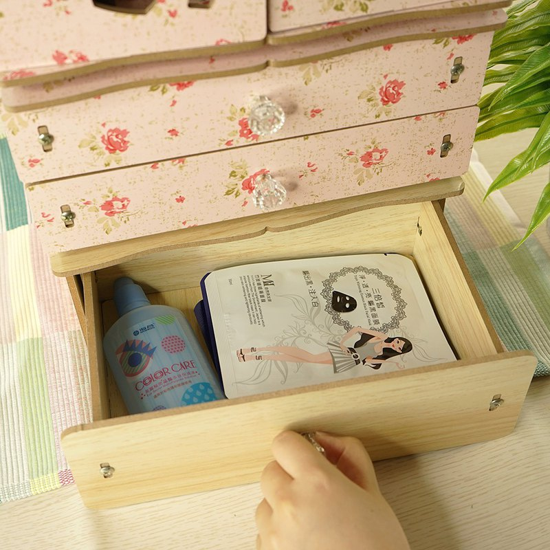 [佶之屋] wooden DIY single layer multi-function drawer small storage box