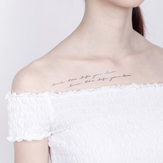 Surprise Tattoos /  Handwriting Set Temporary Tattoo