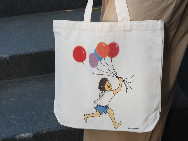 Cotton canvas bag - happiness can be very simple