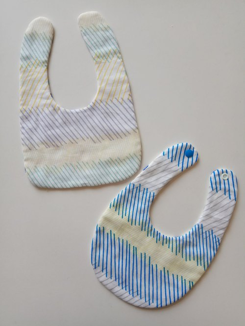 <Japan Cotton> Inclined cotton yarn bib bimonthly gift bib baby bibs baby bibs saliva towel eight yarn six yarn