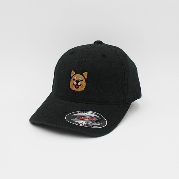 Flexfit® Cap Children's Edition _ Shiba Inu (Black)