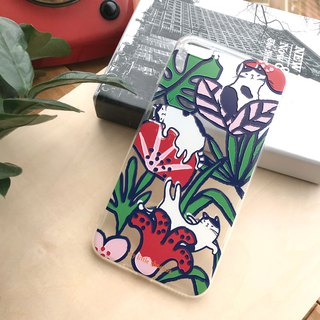 花花貓手機殻 Flower Cat Phone Case