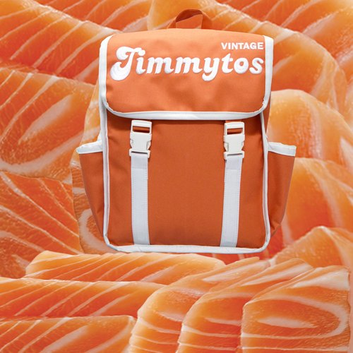 cute backpack vintage jimmytos salmon