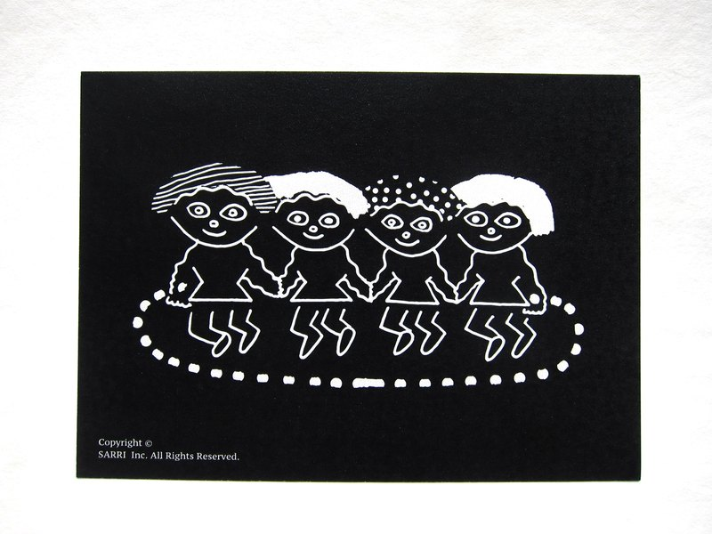 """United skipping"" postcards birthday card design colored illustration Illustrated card Universal Card Art Valentine love modern art particularly interesting characteristics strange weird cute yellow Taiwan's fun eye-catching sequins flash the"
