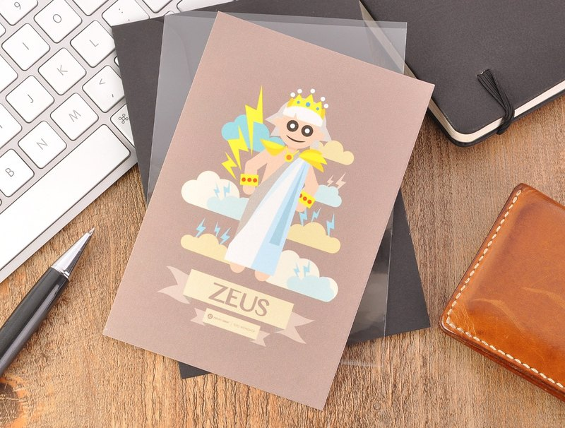 Greek Mythology Character Postcard - Zeus