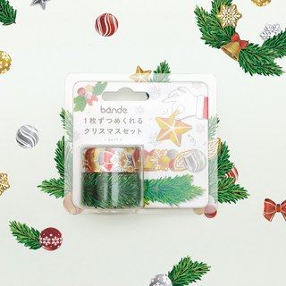 Japanese bande Christmas limited -〗 〖Foil Christmas tree with wreath and paper tape sticker roll