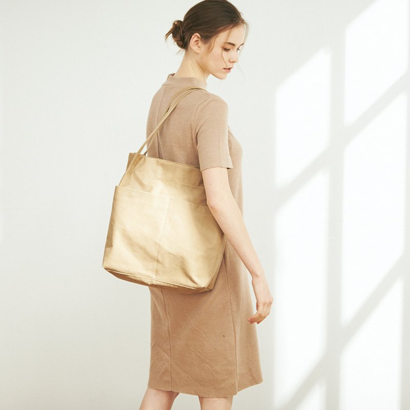 Billie Canvas Side Backpack + Mother Bag [Khaki Brown]