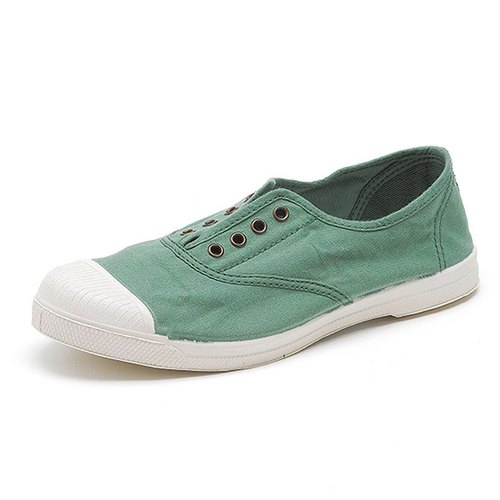 Spanish handmade canvas shoes / 102 four-hole classic / female models / pink green