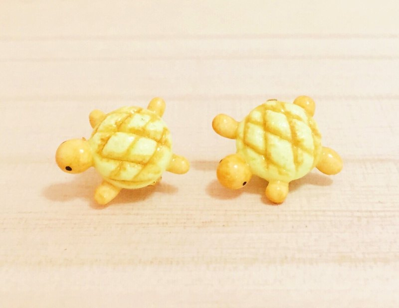 Turtle bread earrings group (can change ear clip type) ((full 600 random send mystery small gift))