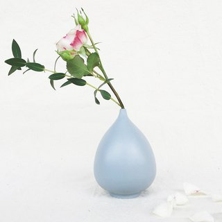 Simple Nordic Wind Flower -Water Drop (Gray Blue)
