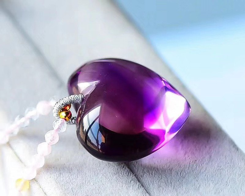 [Welfare price] Need full net natural Brazilian amethyst necklace / love pendant / upper body super beautiful