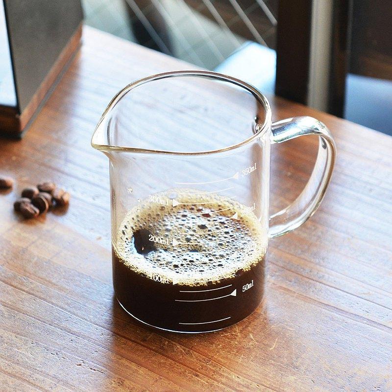 悶蒸十五附刻度耐熱玻璃咖啡公杯量壺-350ml