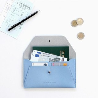 ICONIC Minimalist Passport Wallet - Clear Sky Blue, ICO50190