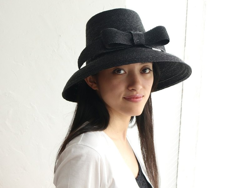 Ribbon Hat Greta Black