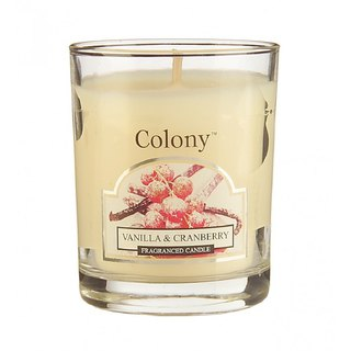British fragrance Colony series vanilla Cranberry small jar glass candle