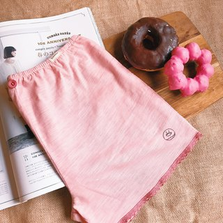 Peach pink - winter dump kid bottoming, home pants