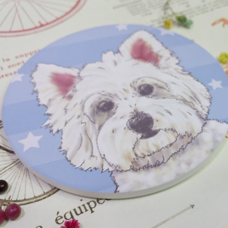West Highland White Terrier-Absorbent Coaster~Ceramic Coaster