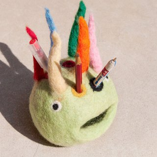 Christmas gift wool felt pen holder / stationery / pen holder / color wool felt pen holder / monster pen holder - colorful