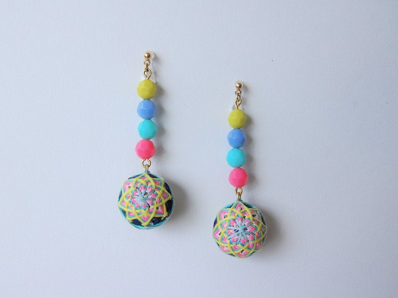 tachibanaya Japanese TEMARI earrings 環 Japanese-style 傳 藝 藝