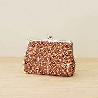 Clasp Frame Clutch/Begonia Glass Pattern/Lady Rouge