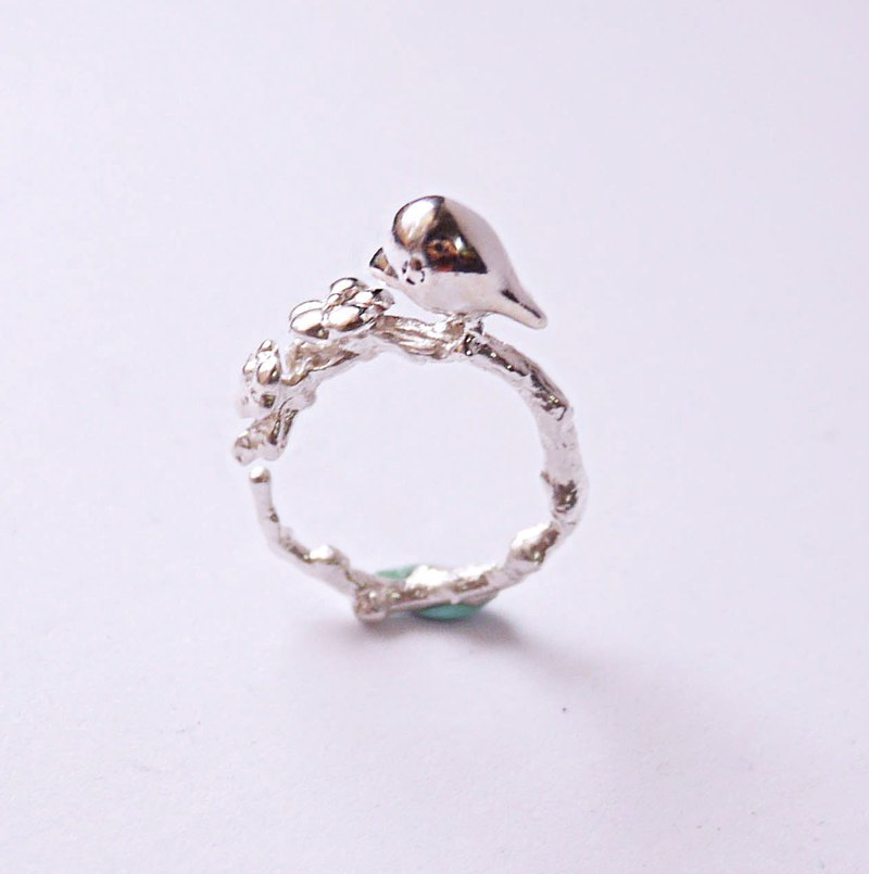 925silver/Brass little swallow open ring