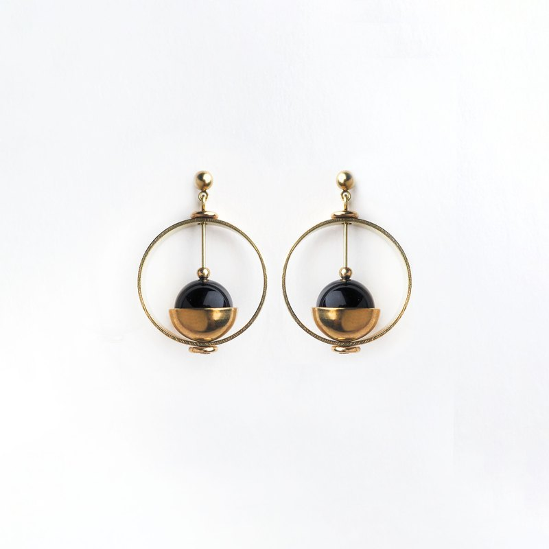 Heliocentric earrings (black)