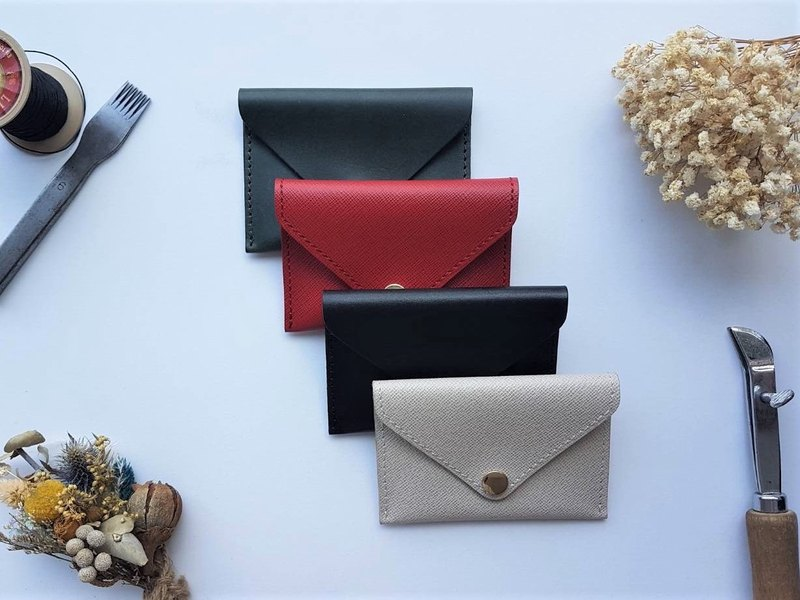 Envelope button business card holder / card holder / coin purse / direct induction (free gift box packaging)