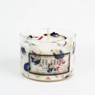 Herbal scented candle 220ml - butterfly bean flower and chrysanthemum