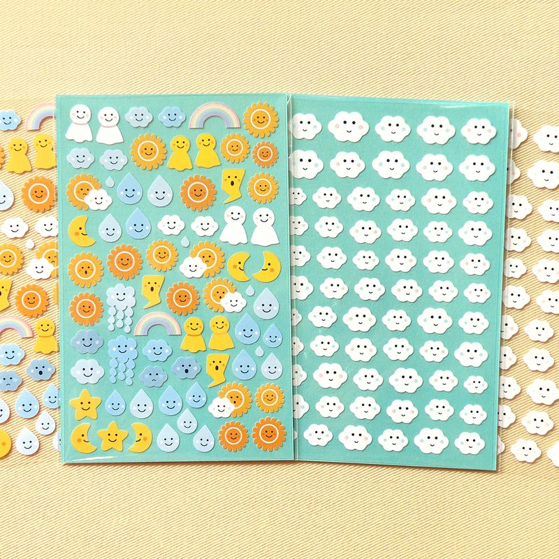 Smile Weather Stickers (2 Pieces Set)