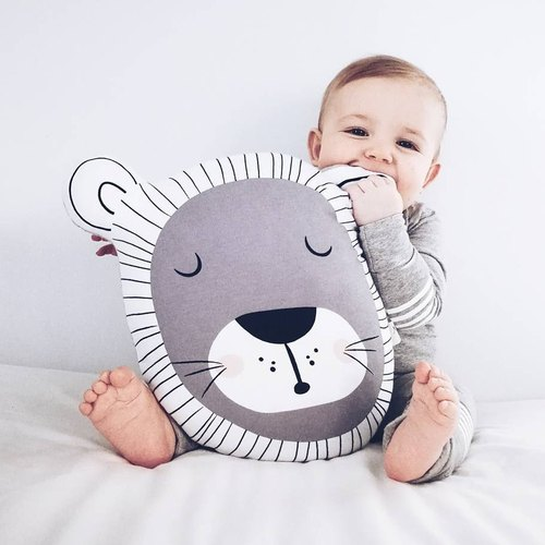 Mister Fly Animal Shape Pillow - Lion Lion MFLY070