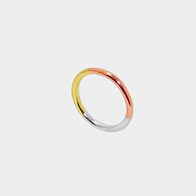 單色.雙色.三色光環戒指/ 畢業禮物/ 中山國中站