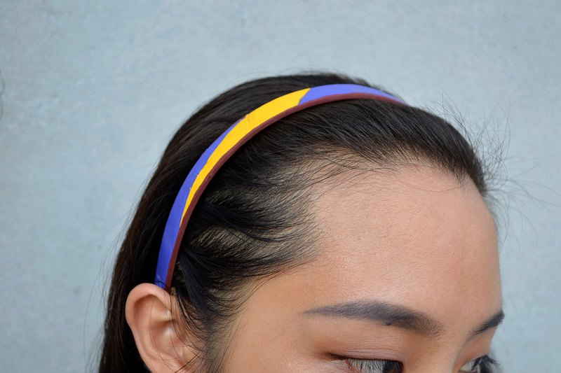 Volleyball x headband / fine version / mikasa yellow blue paragraph number 014