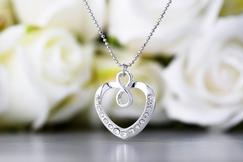 Heart Lock Series Love You Infinite Heart Shape Necklace (NLAJA0930N-1)
