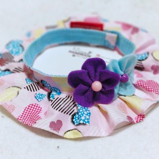 Pet cat dog flower heart patchwork neck ring neck ornaments