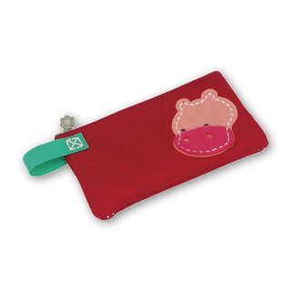 Fairy Land [Material Bag] Animal Styling Pencil Bag - Hippo
