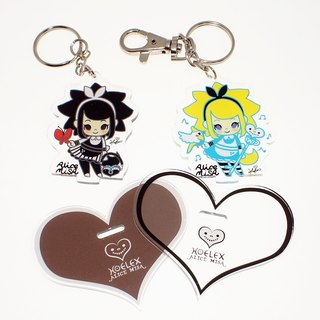 """Dream dream brand"" love Misha AmisA + black rice BmisA modeling acrylic licensing key ring (double-sided printing), 2 a group"