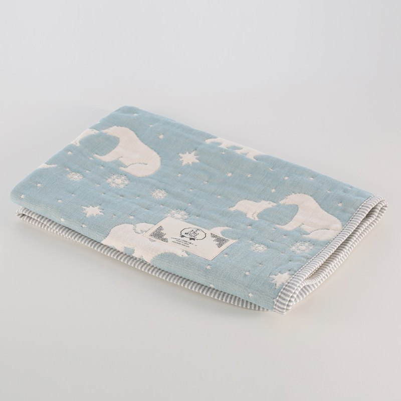 [Mr. Sanhe Kapok] thickened six-fold gauze - parent-child polar bear XS