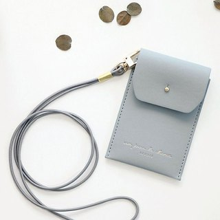 ICONIC Staff Necklace ID Card Holder (with strap) - Sky Blue, ICO52422