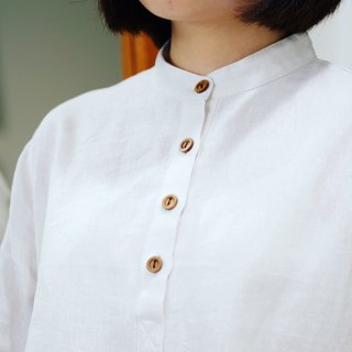 3/4 sleeves Shirt : Smoke White