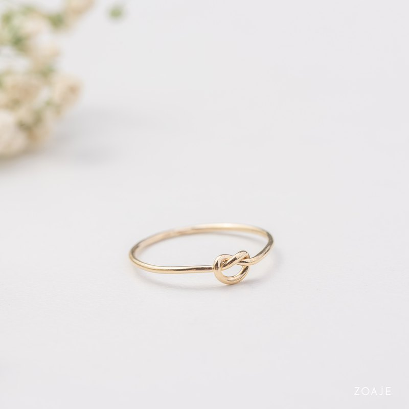 BELGIUM Knot dainty ring in 14k gold filled, Tie the knot ring, Knot ring